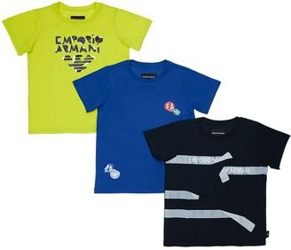 Emporio Armani Set Of 3 Cotton Jersey T-shirts