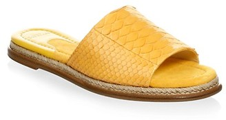 Alexandre Birman Shelby Leather Slide Sandal