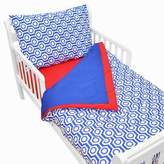 T.L.Care TL Care® 4-Piece Percale Toddler Bedding Set in Royal Hexagon