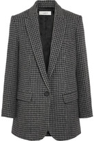 Etoile Isabel Marant Ice Houndstooth Wool-blend Blazer - Gray