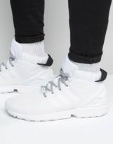 Adidas Originals Zx Flux 5/8 Trainers In White S75944