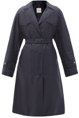 Moncler Rutilicus Belted Shell Trench Coat - Navy