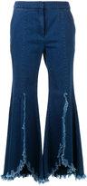 Goen.J ruffled cropped jeans