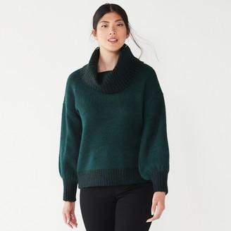 Nine West Women's Balloon-Sleeve Turtleneck Sweater