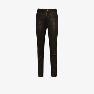 Frame Le Sylvie high waist leather trousers