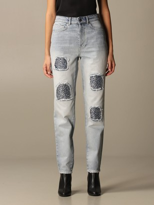 Be Blumarine Jeans In Denim With Rhinestones