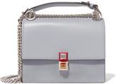 Fendi Kan I Mini Leather Shoulder Bag - Light blue