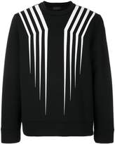 Diesel Black Gold crew neck stripe jumper