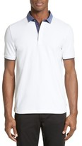 Armani Collezioni Men's Stretch Cotton Polo