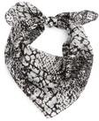 womens lulla collection by bindya snake print silk scarf