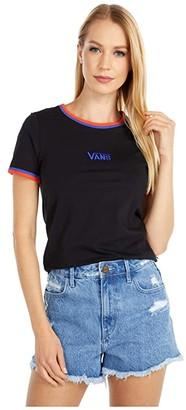 Vans Taffrail Tee (Black/Royal Blue/Grenadine) Women's Clothing