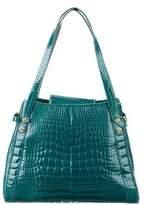 Judith Leiber Alligator Positano Shoulder Bag