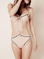 For Love & Lemons Swim La Mer Underwire Top in Nude