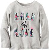 Carter's Girl's 'Full Of Love' Long-Sleeved Tee