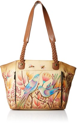 Anna by Anuschka Women's Hand Painted Leather East West Organizer Tote