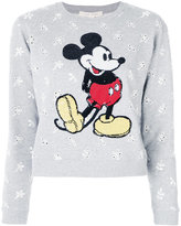 Marc Jacobs Shrunken eyelet sequin Mickey sweatshirt - women - Cotton - XS