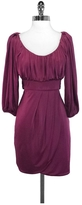 Black Halo Burgundy Empire Waist 3/4 Sleeve Dress