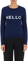 Lisa Perry Women's Hello/Goodbye Wool-Cashmere Sweater-NAVY