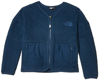 The North Face Kids Camplayer Fleece Cardigan (Little Kids/Big Kids) (Blue Wing Teal) Girl's Coat