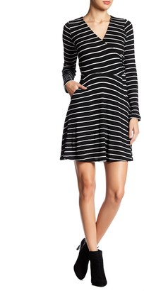 Just For Wraps Striped Wrap Dress