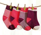GRyiyi Unisex baby 4 Pair Boys Girls Warmer Cute Socks Turn Cuff for 0-36 Months (6-12 months, )