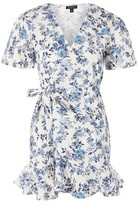 Topshop PETITE Flower Toile Wrap Dress