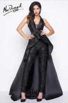 Mac Duggal Black White Red Style 80628R