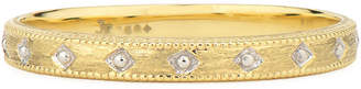 Jude Frances 18k Lisse Delicate Beaded Band Ring, Size 6.5