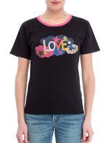 Saint Laurent Women Black T-shirt Love