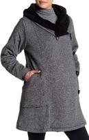 Momo Maternity Wrap Hood Fleece Lined Travel Coat (Maternity)