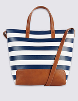 M&S Collection Striped Tote Bag
