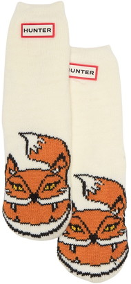 Hunter Cheeky Fox Print Cuff Boot Sock
