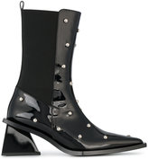 Marques Almeida Marques'almeida - studded pointed toe boots - women - Leather/Patent Leather/Spandex/Elastane - 36
