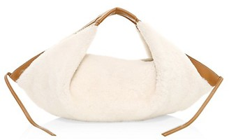3.1 Phillip Lim Mini Luna Shearling Leather Hobo Bag