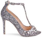 Jewel Badgley Mischka Conroy Beaded Satin Sandals