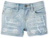 Vigoss Girls 4-6x) Rhinestone Sparkle Denim Shorts