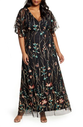 Kiyonna Embroidered Elegance Floral Gown