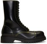 Balenciaga Black Military Boots