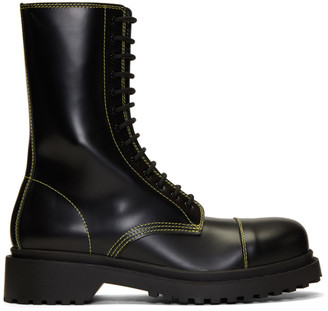 Balenciaga Black Military Boots