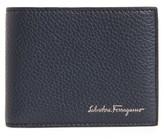 Salvatore Ferragamo Men's Firenze Leather Bifold Wallet - Blue