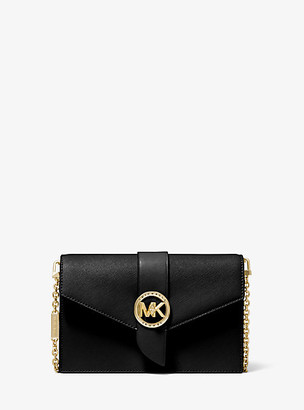Michael Kors Medium Leather Convertible Crossbody Bag