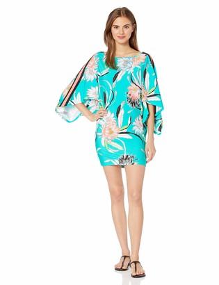 Trina Turk Women's Boat Neck Kimono Sleeve Swimwear Cover Up