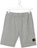 Stone Island Junior elasticated logo patch shorts