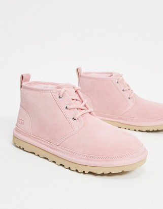 UGG Neumel lace up ankle boots in light pink