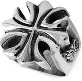 King Baby Studio Men's Large Cross Ring in Sterling Silver