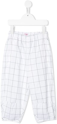 Il Gufo Loose Fit Checked Trousers