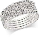 INC International Concepts Silver-Tone Five-Row Crystal Coil Bracelet, Only at Macy's