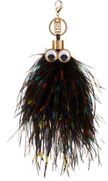 Sophie Hulme George ostrich feather key ring