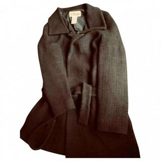 Chloé Anthracite Wool Coat for Women Vintage