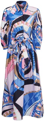 Emilio Pucci Printed Cotton Shirt Dress